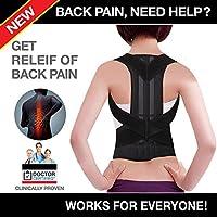 ZSZBACE Soporte para la Espalda Corrector de Postura - Soporte para Espalda Cuello Hombro Alivio del Dolor de Espalda Superior para Columna Cervical (L)