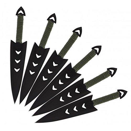6 teiliges G8DS® Wurfmesser Set komplett mit Oberschenkelholster ()