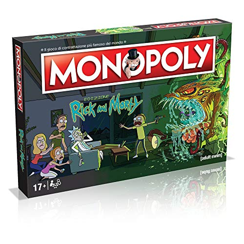 Winning Moves- Rick and Morty Monopoly Italian Edition, 036504