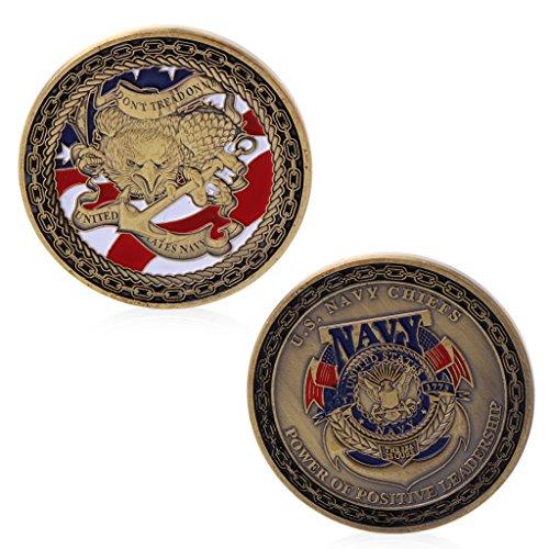 Amarzk Gold Plated US Navy Chiefs Gedenk Herausforderung Münze Physikalische Sammlung (Chief Us-navy)