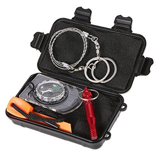 4807dc27518069 Festnight Multifunktional Outdoor Notfallausrüstung SOS Kit Erste-Hilfe Box  Überleben Supplies Camping Reise Survival Gear