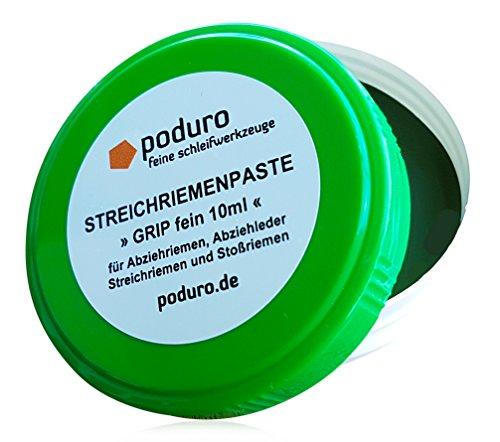 Streichriemenpaste » PODURO GRIP « Chromoxid Abziehpaste für Abziehleder und Streichriemen zum Messer schärfen