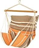 Jobek 28141 silla colgante SOFA, 100% JobekCord, naranja marrón