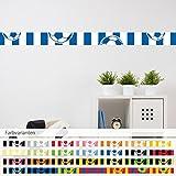 malango® Bordüre Fussball Fussballvereine Wanddekoration Kinderzimmer Fussbälle Bälle Sport Vereine Hobby Freizeit Dekoration Fussballfan Set 2-6-teilig blau-weiß