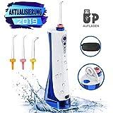 NBPOWER Munddusche Elektrische Wasser Flosser, 2000mAh Batterie Zahnfleisches mit 3 Modi, IPX7 Wasserdicht Oraler Irrigator, USB Wiederaufladbarer Zahnreiniger Zahnreinigung für Zuhause, Reise