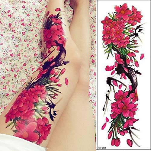 Tattoo volle armmanschette Tattoo weibliche männer Tattoo Geisha wasserdicht Transfer Tattoo und Body Art Aufkleber 3 Stücke- ()