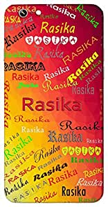 Rasika (Interested In All Good Things) Name & Sign Printed All over customize & Personalized!! Protective back cover for your Smart Phone : Samsung Galaxy J-5 (2016 Edition )
