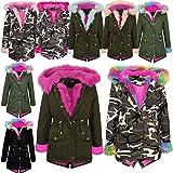 A2Z 4 Kids® Kids Girls Hooded Jacket Designer's Rainbow Faux Fur Parka School Jackets Outwear Coat New Age 2 3 4 5 6 7 8 9 10 11 12 13 Years