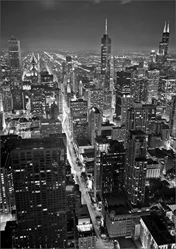 Ramix Glasbild - Chicago 70x100 cm - Glasbild von DekoGlas - Wandbild aus Glas - Bild auf Glas - Bild von Einem Sicherheitsglas - Moderne Glasbilder - schöner Ausdruck - Landschaft,Stadt