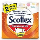 Scottex Quanto Basta Carta Cucina Opzione Mezzo Strappo, 2 Maxi Rotoli