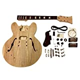 GDES22L Left Handed Mahogany Semi Hollow body Electric Guitar DIY Kit for Student