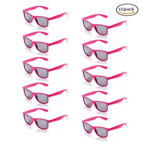 9660679c8a8775 ONNEA 10 Paare Party Favors Sonnenbrille Set Sommer Kinder Damen (Leuchtend  Rosa 10-Pack