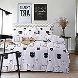 housse couette chat sets de housses de couettes couettes et housses de couet. Black Bedroom Furniture Sets. Home Design Ideas
