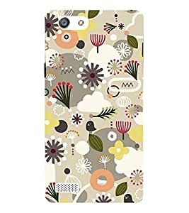 Fiobs Designer Back Case Cover for Oppo Neo 7 :: Oppo A33 (Flowers Designs Contrast Patterns Beautiful )