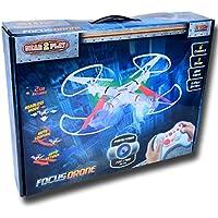 GETX - Focus Drone. Control Total con Sus 6 Ejes. Graba Fotos Y Videos En Su Tarjeta De 2Gb (Incluida)