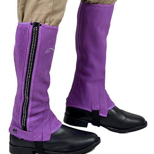 Riders Trend Amara Mini chaps avec fermetures Éclair à strass pour fille Violet Violet grand