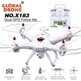 Malloom® Global Drone 6-axes X183 With 2MP WiFi FPV HD Camera GPS Brushless Quadcopter (1080P weiß)