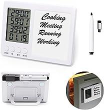 temporizador cocina iBeek Digital Timer 4 Grupos Reloj Alarma Gran pantalla Cuenta Atrás LCD Soporte Magnético con Retráctil Stand & Whiteboard y Borrador Tiempo de Cocina