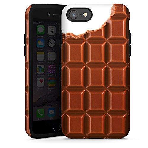 Apple iPhone X Silikon Hülle Case Schutzhülle Schokolade Chocolate Schoko Tough Case glänzend