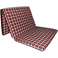 "Sleepinns Three Fold Single Bed Size 2.2 Inches Epe Foam (72"" X 35"" X 2.2"", Checkered)"