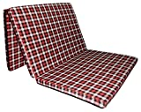 Sleepinns Three Fold Single Bed Size 2.2 Inches Epe Foam (72' X 35' X 2.2', Checkered)