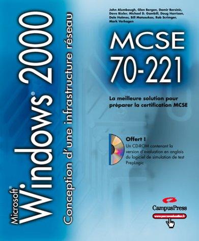 MCSE 70-221 conception d'une infrastructure réseau pour Windows 2000 CD-ROM par Que Development