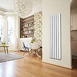 Home Deluxe | Flare | Heizkörper einlagig flach | verschiedene Größen und Farben | 1800 x 560 x 50 mm (7 Paneele), Weiß