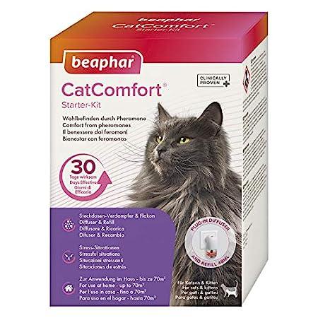 beaphar CatComfort Starter-Kit, Beruhigungsmittel für Katzen mit Pheromonen