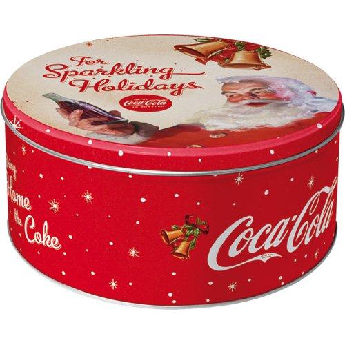 nostalgic-art-30607-coca-cola-barattolo-con-scritta-for-sparkling-holidays-rotondo-l-metallo-multico
