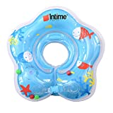 #10: Baoblae Safety Newborn Infant Baby SWIMMING NECK RING FLOAT Bath Inflatable Circle Toy - blue