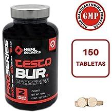 TestoBur suplemento natural para aumentar la Testosterona para deportistas 150 comprimidos Heal Secrets