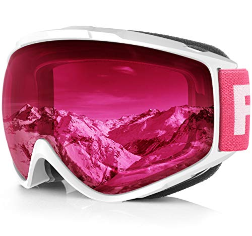 Findway Gafas de Esquí,Máscara Gafas Esqui Snowboard Nieve Espejo pa