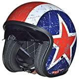 RC-590 Jethelm Custom Motorradhelm Chopper Chopper Motorrad Roller Helm rueger, Farbe:Rebell, Größe:L (59-60)