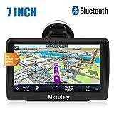 7' GPS Voiture Auto - Cartographie Europe 52 Pays à Vie - GPS Bluetooth 7 Pouces Ecran Tactile Haute Luminosité avec Dispositif Anti-reflet - Support Stable avec Grande Ventouse Chargeur de Voiture
