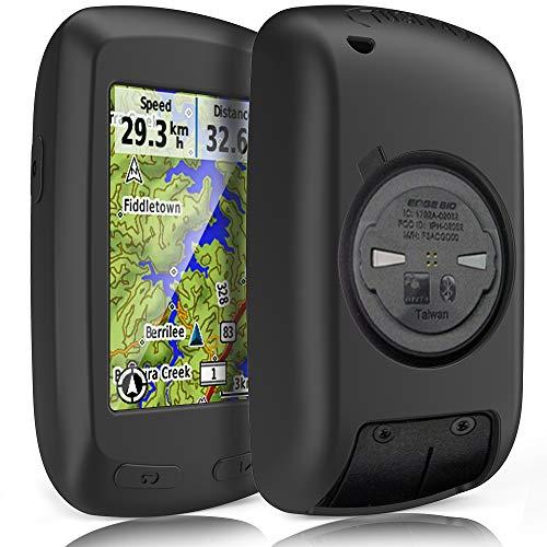 TUSITA Hülle für Garmin Edge 800 810,Approach G6 G7,Touring - Silikon Schutzhülle Skin - GPS Bike Computer Zubehör (Schwarz)