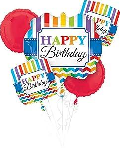 """Amscan International-3210501""""brillante ramo de globos de feliz cumpleaños"""""""