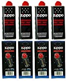 4 x Original Zippo Benzin + 4 x Flints im Spender -