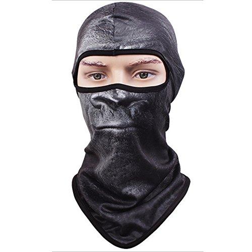 Vertvie Unisex Maske Atmungsaktiv Gesichtsmaske Halloween Motorrad Ski Snowboard Fahrrad Maske Outdoor Sport Schlauchtuch 3D Druck Sturmhaube(One Size, Motiv 2) (Awesome Halloween Masken)