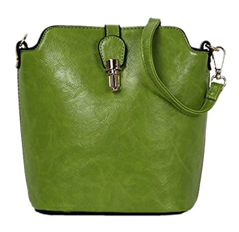 Girly HandBags Ladies Faux Leather Shoulder Bag Cross Body Vintage Fashion Push Lock Summer Outfit Bag --