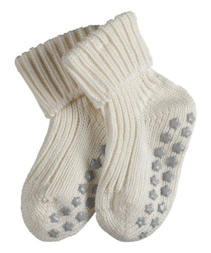 FALKE Unisex-Baby Socken Cotton Catspads, Einfarbig, Gr. 80-92 (Herstellergröße: 12-18 Monate), Weiß (Off White)