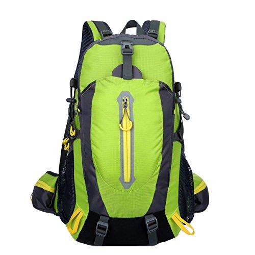 40L Große Kapazität Wasserdichte Outdoor-Männer Und Frauen Bergsteigen Taschen Schultaschen Computer-Taschen,FruitGreen FruitGreen