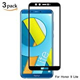 [3 Pièces] Verre Trempé pour Huawei Honor 9 Lite,GantPower Protection écran film protection pour Huawei Honor 9 Lite,Ultra Claire 9H Film Protecteur-Noir