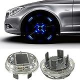 MASUNN Auto Felge Reifen Felge Solar Energy Flash Licht Lampe 4 Modi 12 LED