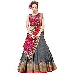 SKY GLOBAL Women's Embroidered Banglori silk Lehenga Choli (Lehnga_216_Free Size_Multi coloured)