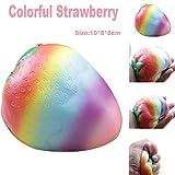 Feixiang - Juguetes blandos estrujables para el estrés con diseño de fresa de colores