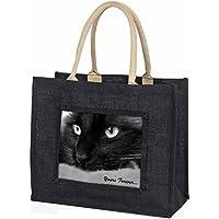 Black Cat 'Yours Forever' Large Black Shopping Bag Christmas Present Idea