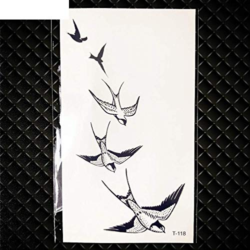 MRKAL Black Galaxy Moon Planter Tattoo Aufkleber Frauenkörper Arm Kunst Malerei Temporäre Dekorative Tätowierung Mann Federhals Flash Tattoo Ohr