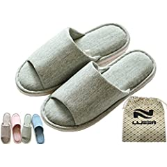 2ad9846e1b61 Lijeer Indoor Home Slippers Cotton Cozy Cotton Memory Foam Fl ..