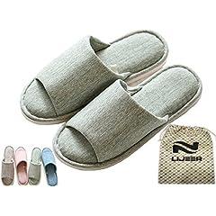 2ad9846e1b61 Lijeer Indoor Home Slippers Cotton Cozy Cotton Memory Foam Fl ..