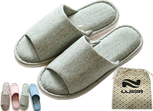 Zapatillas Casa Interior Mujer Fieltro Antideslizante Slippers Verano Memoria Espuma Pantuflas Natural Unisex Algodón Forro